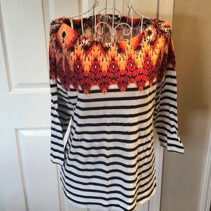 Nautical Striped Top by Lucky Brand